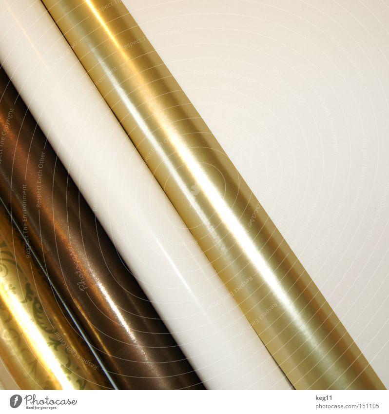 schön warm einpacken Weihnachten & Advent Winter gold Rolle Geschenkpapier schenken Freude Verpackung Geburtstag Dekoration & Verzierung Weihnachtspapier