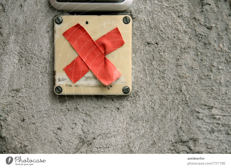 Wenn der Briefträger null Mal klingelt Rücken Kommunizieren Hinweisschild Eingang Etikett Verbote Klingel Schilder & Markierungen Plus besetzen belegt