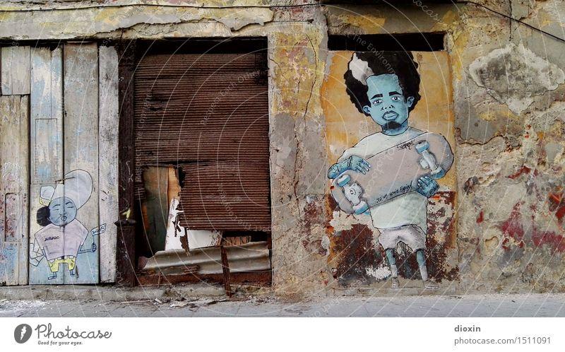 cuban skater Ferien & Urlaub & Reisen Stadt Ferne Kunst Fassade Tourismus Tür authentisch Abenteuer Jugendkultur Gemälde Hauptstadt Stadtzentrum Altstadt