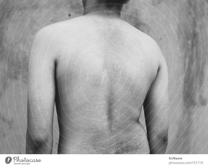 24 [gang star] Haut Junger Mann Jugendliche Erwachsene Rücken nah Vertrauen Mittelformat eng Intimität Krimineller Südafrika Afrika nackter rücken an der wand