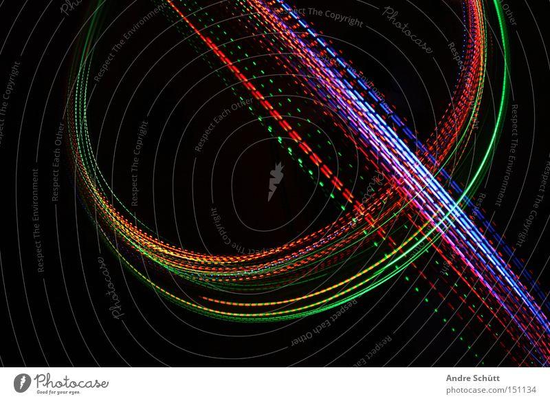 traces II grün blau rot schwarz Farbe orange Spuren Kurve Licht Leuchtspur