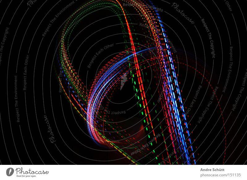 traces III grün blau rot schwarz Farbe orange Spuren Kurve Leuchtspur