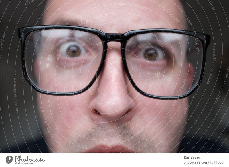 Unscharfe Betrachtungen Mensch Jugendliche Mann Freude 18-30 Jahre Gesicht Erwachsene Leben sprechen Lifestyle maskulin Kreativität lernen Studium Brille