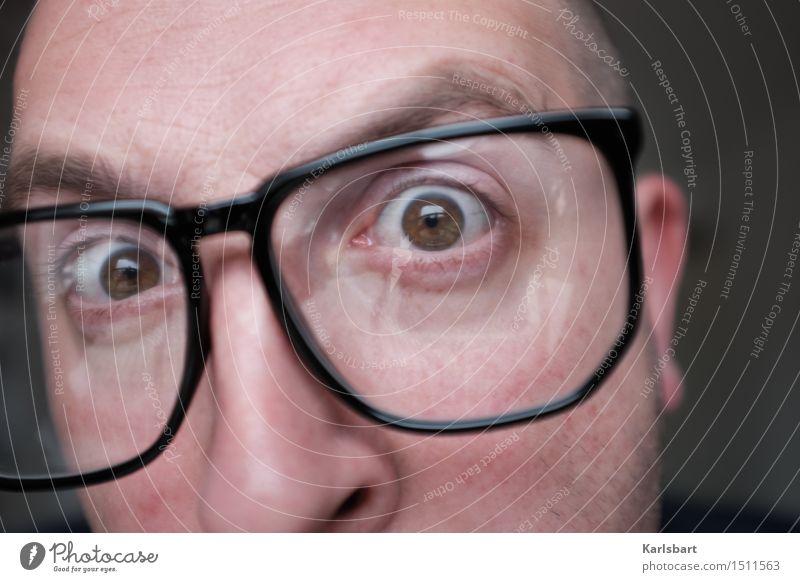 Kurvendiskussion Mensch Mann Erwachsene sprechen Lifestyle Schule Denken Kopf maskulin Erfolg lernen Studium Brille Bildung Erwachsenenbildung Beruf