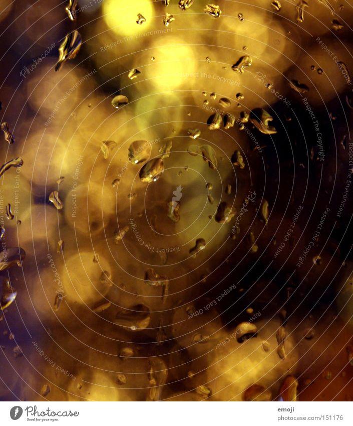 feucht & warm Wasser gelb Wärme Wassertropfen gold Punkt niedlich