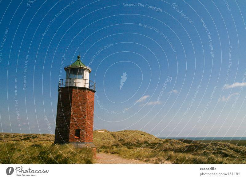 Leuchttürmchen Meer Sand Wasserfahrzeug Kommunizieren Turm Backstein Denkmal Stranddüne Schifffahrt Düne Wahrzeichen Leuchtturm Nordsee Warnhinweis Sylt Signal