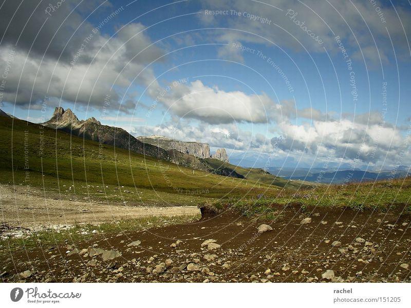 currently not available IV Natur Himmel Sommer Ferien & Urlaub & Reisen Wolken Erholung Gras Berge u. Gebirge Freiheit wandern Felsen Erde Ausflug Tourismus