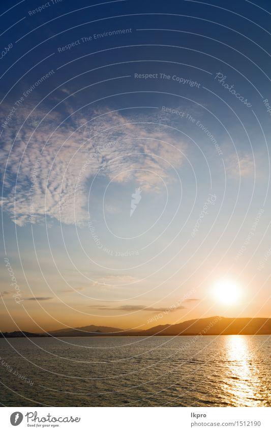 das Himmelmeer Mittelmeerrotes Meer ruhig Ferien & Urlaub & Reisen Sommer Sonne Insel Wellen Tapete Natur Landschaft Wolken Horizont Hügel Küste heiß gelb gold