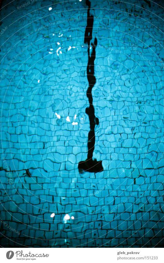 Schwimmbad. Wellen Russland blau Wasser Schatten Wassertropfen Sibirien Wetter Sport Dinge Licht