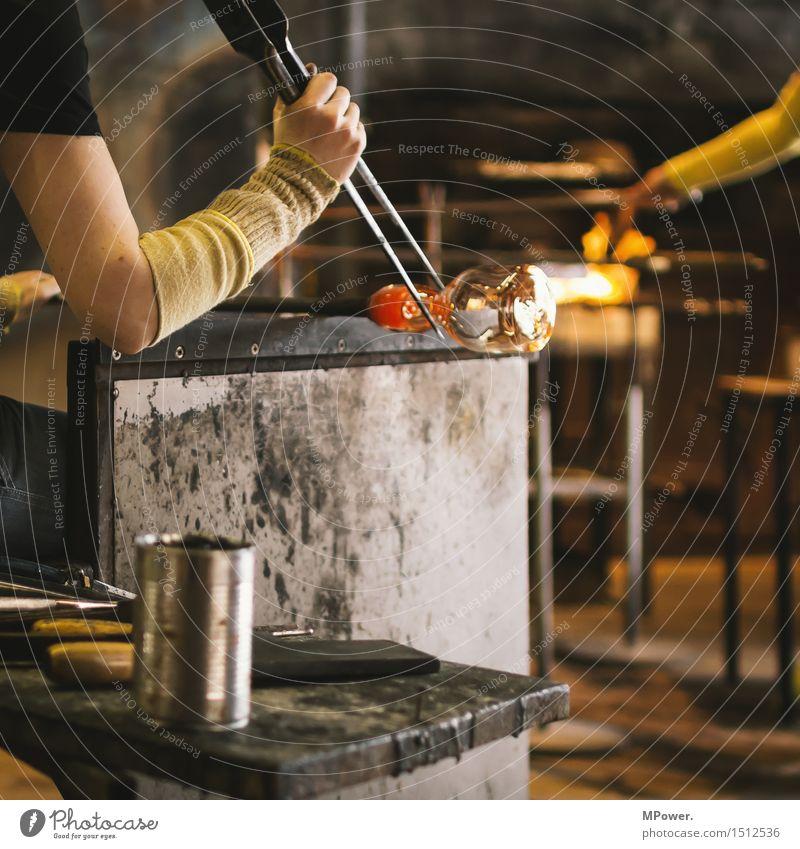 glaser @ work Glasbläserei Arbeit & Erwerbstätigkeit Beruf Handwerker Unternehmen Mensch feminin Frau Erwachsene 1 18-30 Jahre Junge Frau Glaser heiß Meister
