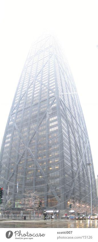 hoooooooooch Hochhaus groß Winter Illinois Chicago Architektur John Hancock Skyline hoch modern Schnee USA
