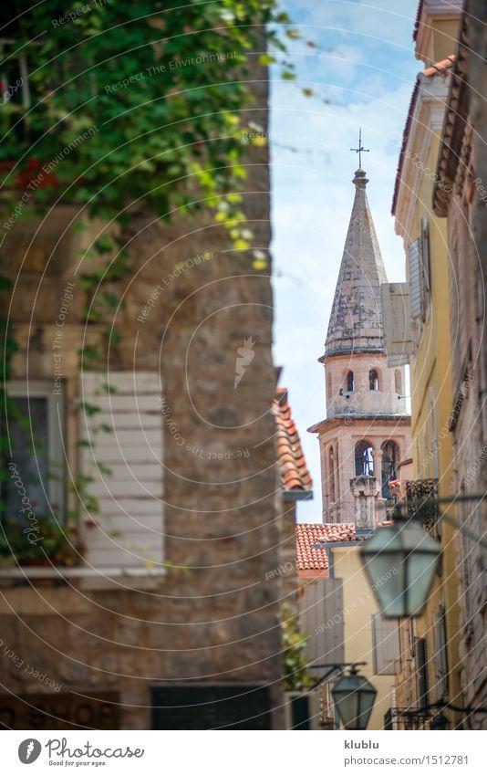 Straßenansicht von Kotor, Montenegro schön Ferien & Urlaub & Reisen Tourismus Sommer Berge u. Gebirge Haus Tisch Restaurant Kultur Landschaft Küste Kleinstadt