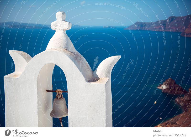 Griechenland, Santorini-Insel, Oia-Dorf, weiße Architektur Himmel Natur Ferien & Urlaub & Reisen Stadt blau schön Sommer Meer Landschaft Haus Berge u. Gebirge