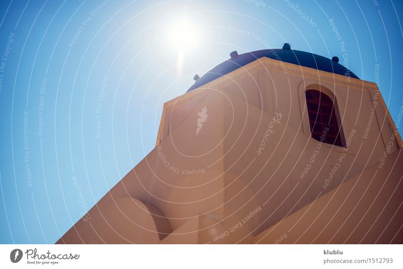 Griechenland, Santorini Insel, Oia-Dorf Weiße Architektur Himmel Natur Ferien & Urlaub & Reisen Stadt blau schön Sommer weiß Meer Landschaft Haus