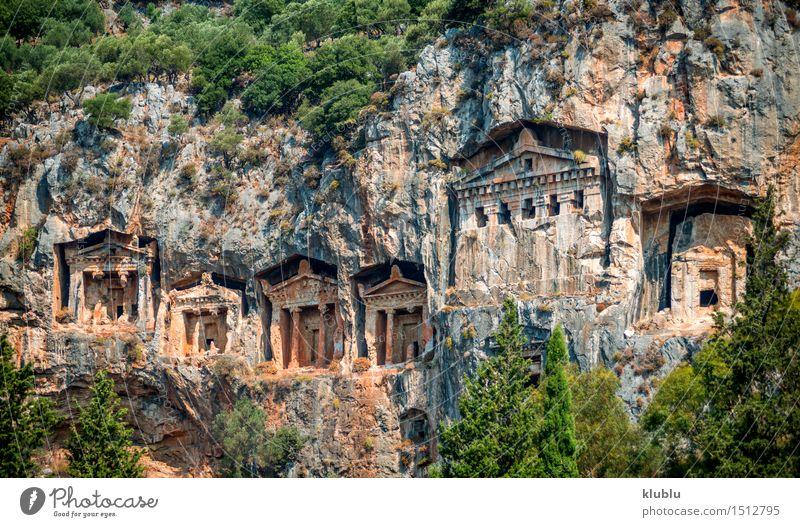 Kaunian Felsengräber von Dalyan, Ortaca, Türkei Körper Berge u. Gebirge Kultur Stadt Ruine Platz Gebäude Stein alt historisch Tod Farbe