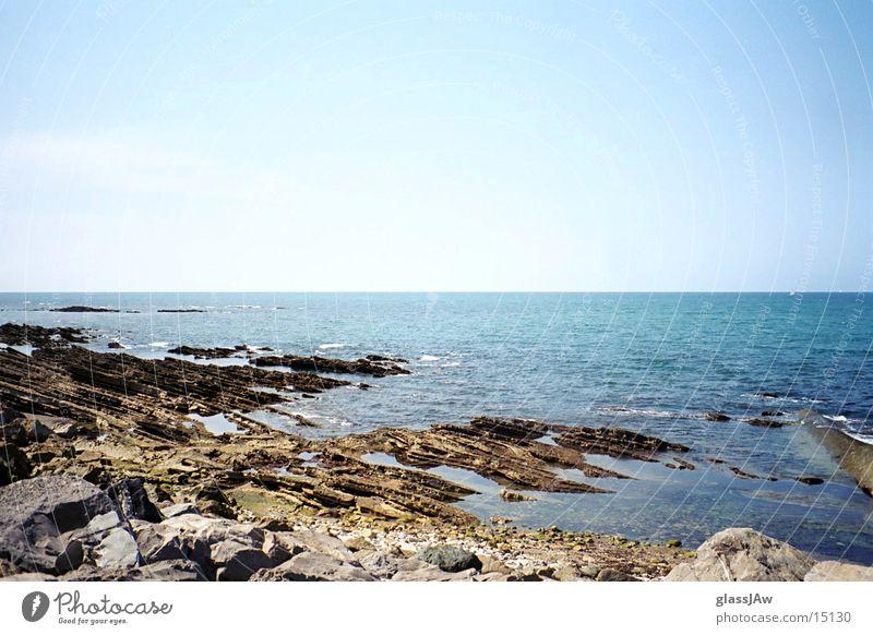 guethary Wasser Meer Strand Stein Frankreich Bucht
