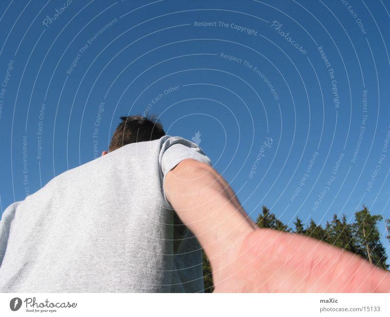 simon Mensch Mann Hand Arme