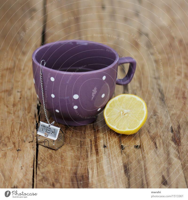 Gute Besserung Lebensmittel Getränk trinken Heißgetränk Kaffee Latte Macchiato Tee Tasse Stimmung Zitrone Teekanne Durst Heilung Holz Farbfoto Innenaufnahme