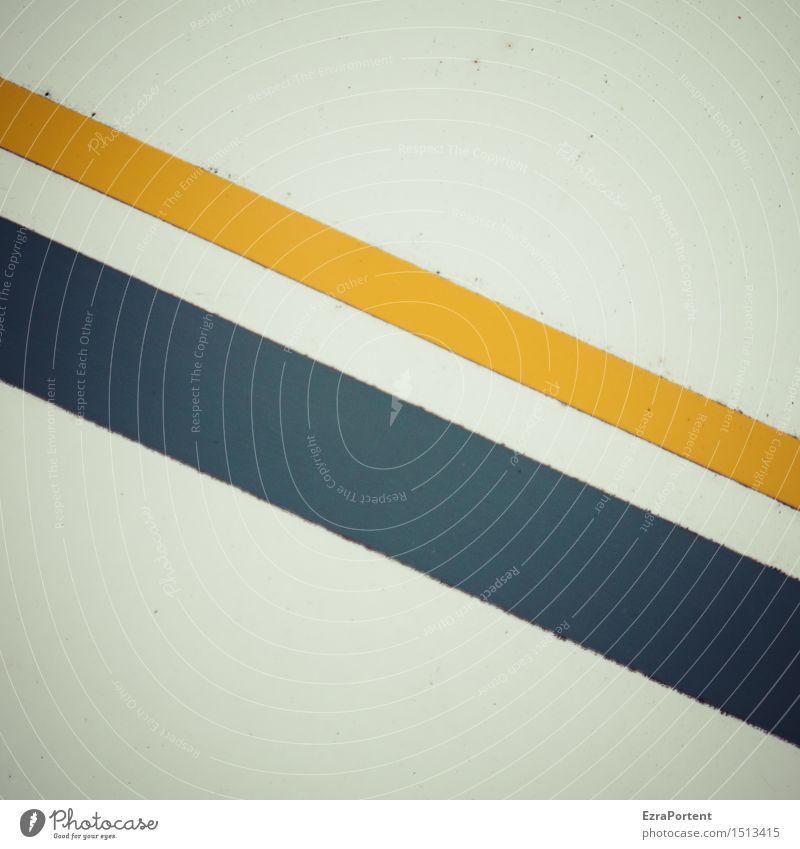 \\ Metall Zeichen Schilder & Markierungen Linie Streifen blau gelb Design Farbe Werbung Hintergrundbild Grafik u. Illustration Grafische Darstellung graphisch