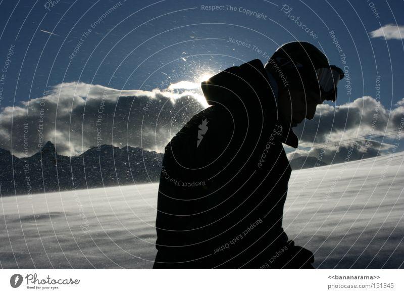 Gipfelstürmer Sonne Wolken Winter kalt Berge u. Gebirge Schnee Skigebiet Bergsteigen Gletscher Skifahrer Wintersport Schneesturm Klettern Snowboarder