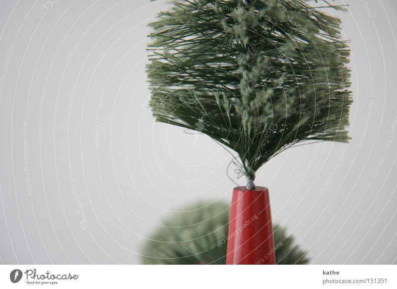räudiger Christbaum Weihnachten & Advent grün Baum Pflanze Holz Stil Sträucher Kunststoff Weihnachtsbaum karg unpersönlich Weihnachtsdekoration