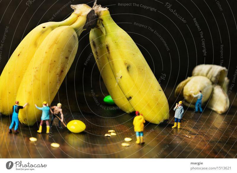 Mini - Welten Bananen Ernte Mensch Mann Pflanze Erwachsene gelb braun Arbeit & Erwerbstätigkeit Frucht maskulin Ernährung Baustelle Landwirtschaft Team Beruf
