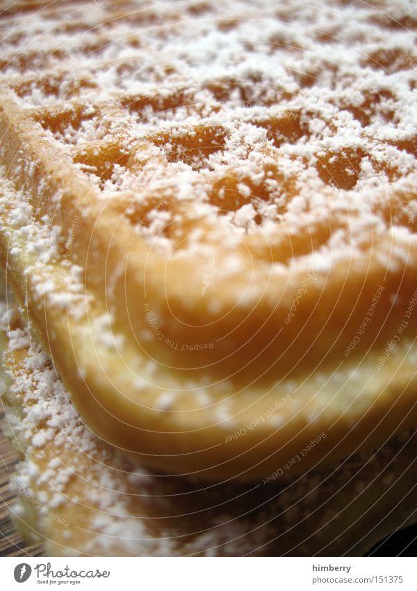 zucker von mutter Waffel süß Dessert Teigwaren Zucker Ernährung Kalorie frisch lecker Ecke Lebensmittel Süßwaren Backwaren Puderzucker Kalorienreich