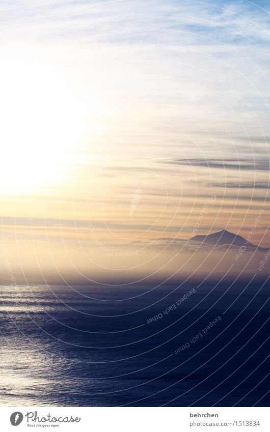 auf ein neues... Ferien & Urlaub & Reisen Tourismus Ausflug Abenteuer Ferne Freiheit Landschaft Wasser Himmel Wolken Nebel Berge u. Gebirge Teide Gipfel Wellen