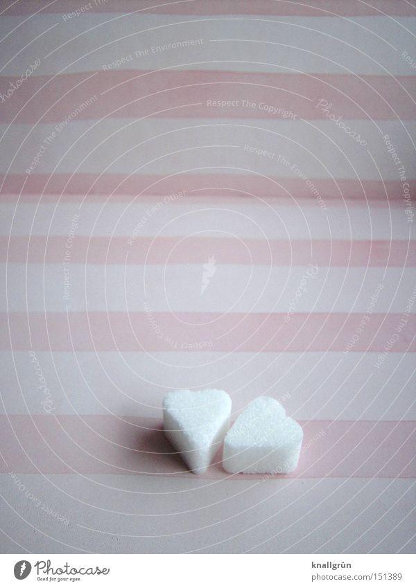 Sweetheart weiß Liebe Herz rosa Streifen obskur Süßwaren gestreift