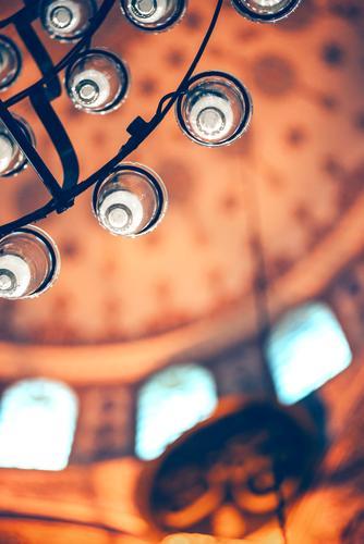 Türkische Moschee Detail Dekoration & Verzierung Kultur Himmel Gebäude Architektur neu Religion & Glaube Ägäis Asien Cami camii Teppich Zimmerdecke Istanbul