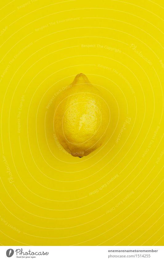 Jammy Zitrone auf Knallgelb Gesunde Ernährung gelb lustig Kunst Design ästhetisch verrückt Küche lecker Erkältung Appetit & Hunger Kunstwerk Zitrone gestalten sauer vitaminreich