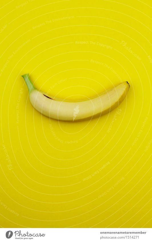Jammy Banane auf Gelb Farbe Gesunde Ernährung gelb Kunst Frucht Design ästhetisch verrückt Kunstwerk knallig gestalten krumm Bananenmagazin