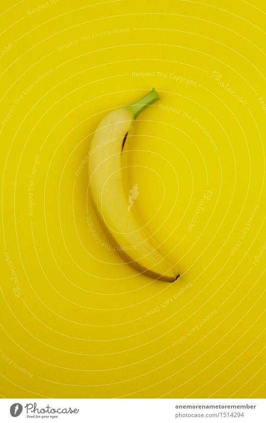 Jammy Banane an Gelb Kunst Kunstwerk ästhetisch Frucht krumm knallig mehrfarbig vitaminreich Südfrüchte Appetit & Hunger Snack Design gestalten Farbfoto