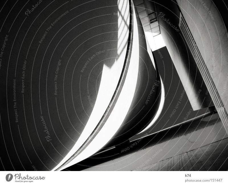 J kalt grau Architektur modern neu Zukunft Bauwerk Geometrie Futurismus