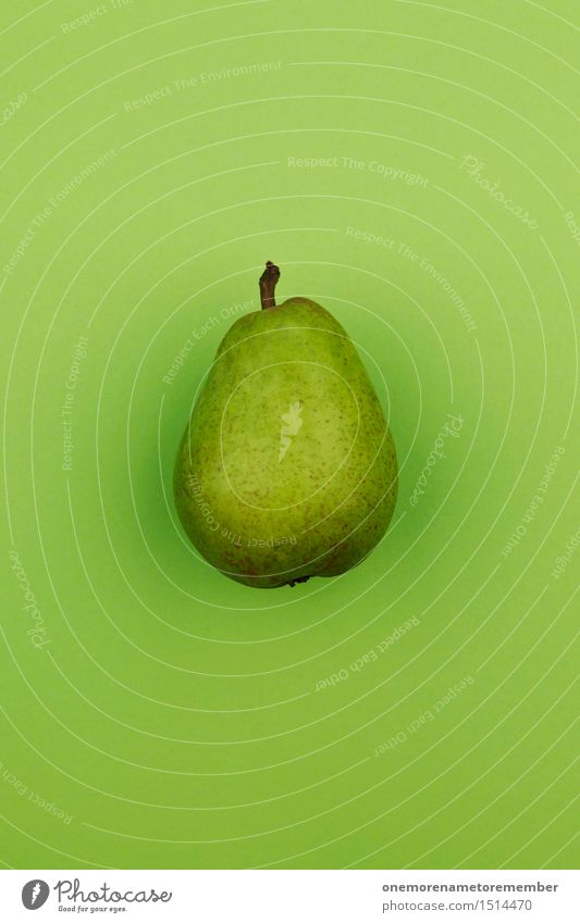 Jammy Birne auf Grün grün Gesunde Ernährung Gesundheit Kunst Design ästhetisch lecker Bioprodukte Appetit & Hunger Glühbirne Oberfläche Kunstwerk Birnenstiel