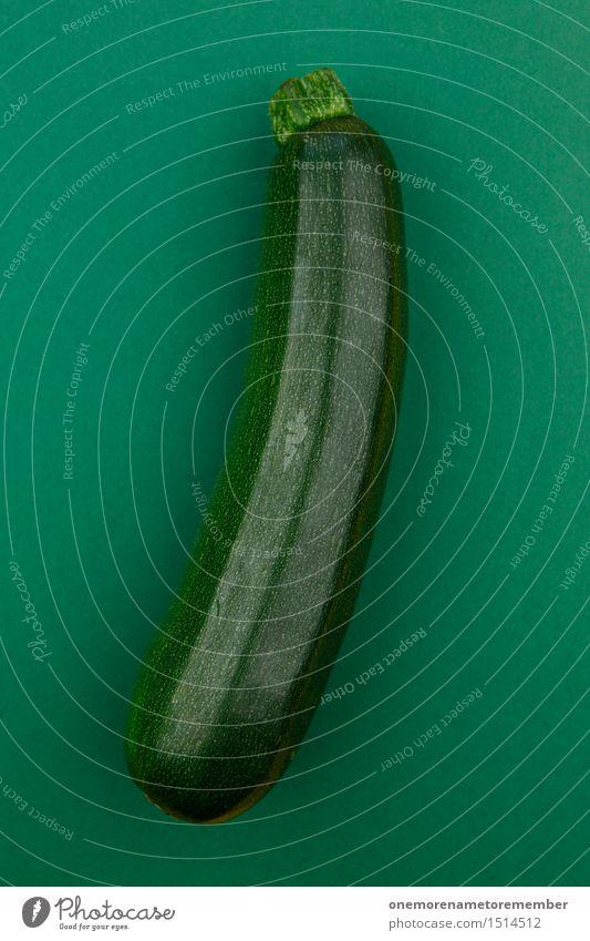 Jammy Zucchini auf Dunkelgrün Gesunde Ernährung Gesundheit Kunst Lebensmittel Design ästhetisch Gemüse lecker Bioprodukte Ernte Appetit & Hunger ökologisch