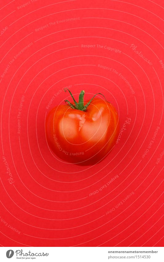 Jammy Tomate auf Rot Kunst Kunstwerk ästhetisch Tomatensauce Tomatensalat Tomatensaft rot lecker Gesundheit Gesunde Ernährung knallig mehrfarbig Farbfoto