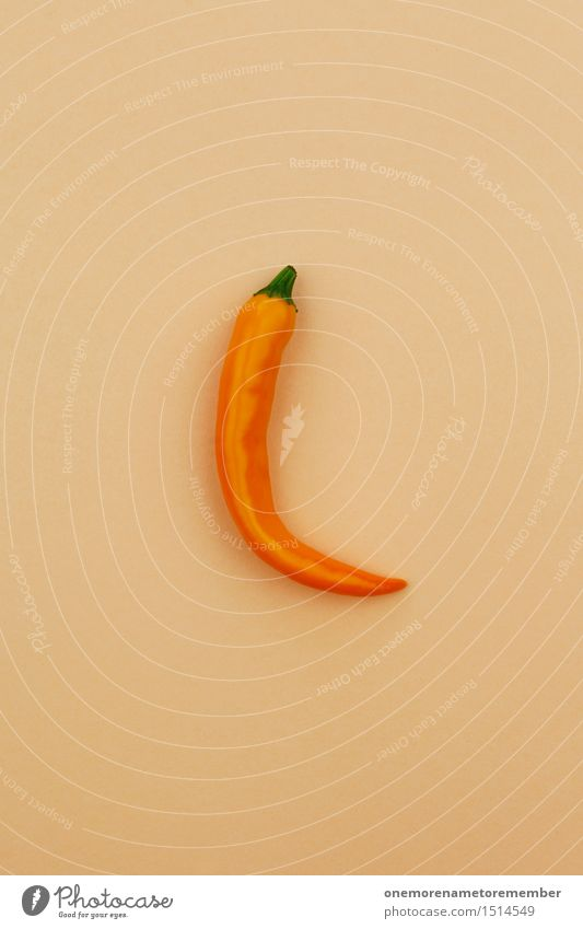 Jammy Chilli auf Beige Essen Gesundheit Kunst orange ästhetisch Scharfer Geschmack Küche Gemüse lecker Kunstwerk beige Würzig Chili vitalisierend Chilisoße