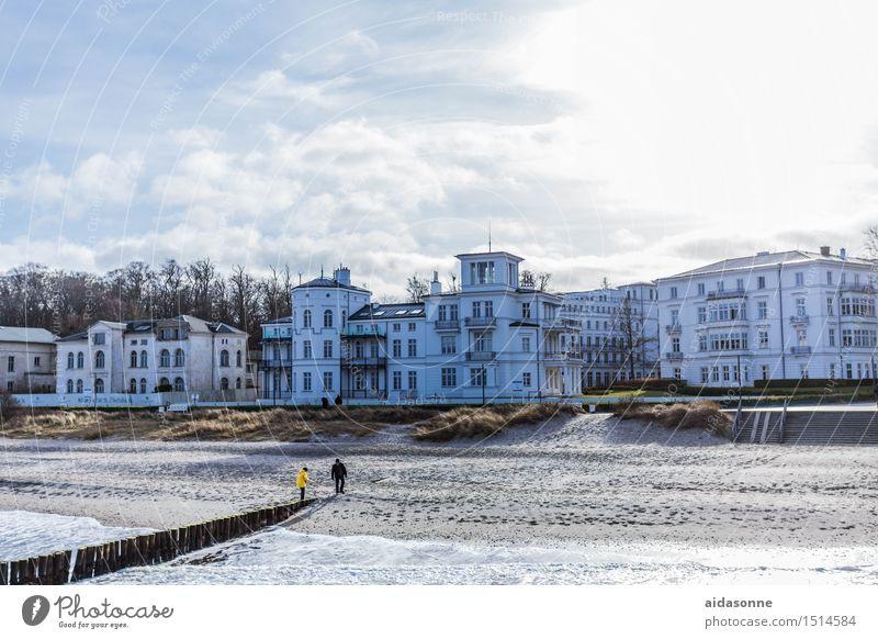 Heiligendamm Deutschland Europa Kleinstadt Haus Sehenswürdigkeit entdecken Erholung genießen Ferien & Urlaub & Reisen wandern Holzpfahl Strand Seegras Villa