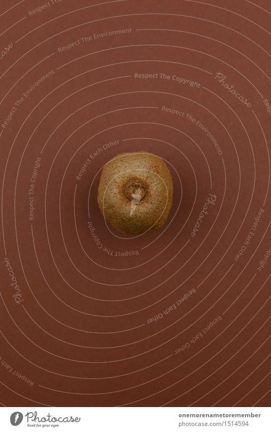 Jammy Kiwi auf Braun Kunst Kunstwerk ästhetisch braun Frucht lecker Gesundheit Gesunde Ernährung samtig Hülle vitaminreich Snack Bioprodukte Farbfoto mehrfarbig