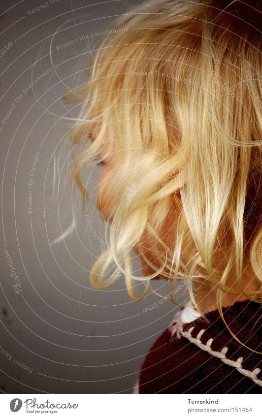 Stand.punkts.wechsel. Meer Gesicht lachen Haare & Frisuren Wärme klein Kleinkind Pullover Sylt Phantasie unsichtbar kindlich gedreht