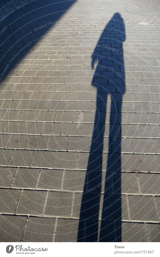 ghost Einsamkeit Dreieck Bürgersteig Mensch Licht Schatten Silhouette Herbst Frau Geister u. Gespenster Menschenschatten später Nachmittag