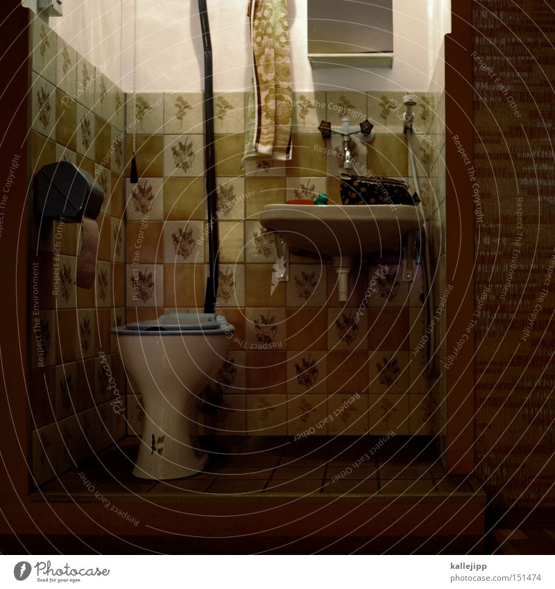 keine panik Handtuch Bad Toilette Häusliches Leben Waschbecken Wasserhahn Sauberkeit steril Körperpflegeutensilien sanitär Möbel Toilettenpapier Spiegel Tapete