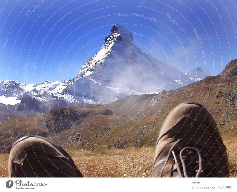 Höbalm-Tour Himmel Natur blau Ferien & Urlaub & Reisen Sommer Wolken Landschaft Erholung Ferne Umwelt Berge u. Gebirge Gras Luft Fuß braun Schuhe