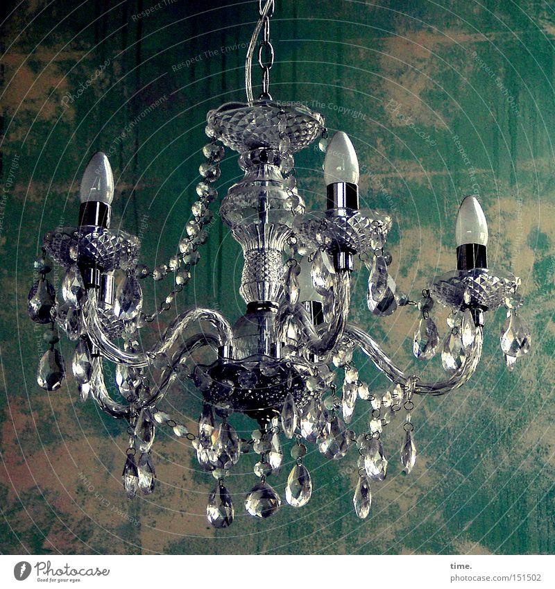 Affenschaukel (aristocrat style) Lampe Glas Energie Elektrizität Kabel Häusliches Leben Tapete Reichtum hängen Glühbirne Kristalle Entertainment beeindruckend