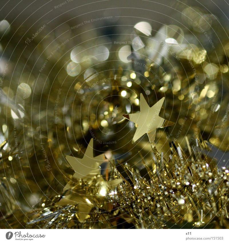 Sternchen II glänzend Weihnachten & Advent Dekoration & Verzierung schimmern Feste & Feiern Stern von Bethlehem Makroaufnahme Nahaufnahme gold silber Lampe