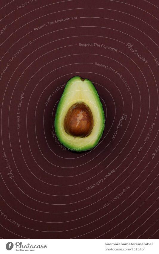 Jammy Avocado auf Braun Kunst Kunstwerk ästhetisch braun grün Gesunde Ernährung Gesundheit Bioprodukte Kerne Kernobst lecker Lebensmittel Frucht exotisch