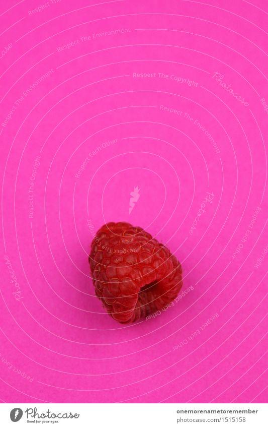 Jammy Himbeere auf Rosa Kunst Kunstwerk ästhetisch Himbeeren Himbeereis Frucht lecker Gesundheit Gesunde Ernährung knallig magenta rosa vitaminreich Vitamin C