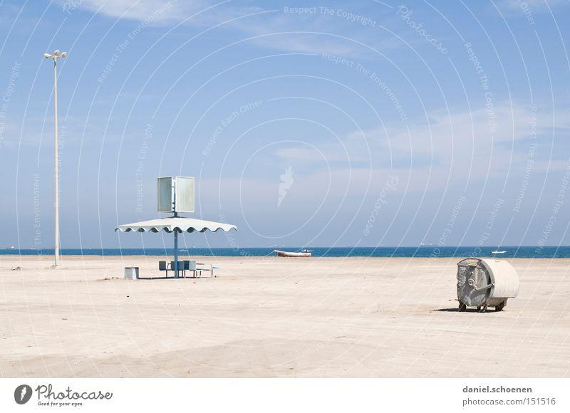 Traumstrand 1 Wasser Himmel weiß Meer blau Strand Ferien & Urlaub & Reisen Küste Horizont Reisefotografie verfallen Surrealismus