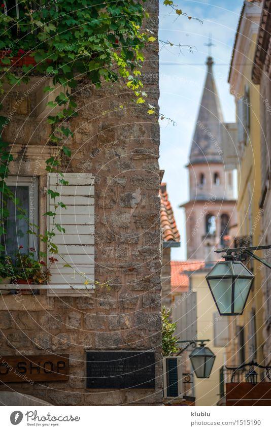 Straßenansicht von Kotor, Montenegro Ferien & Urlaub & Reisen Stadt alt schön Sommer Landschaft Haus Berge u. Gebirge Architektur Küste Gebäude Stein Fassade